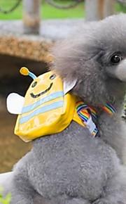 grin med pets® søde lille gule bi form rygsæk til kæledyr hunde (assorterede størrelser)