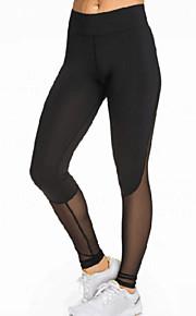Women's Black Slimming Effect Sport Legging with Mesh