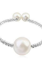 Pulseras y Brazaletes Brazaletes Redondos Aleación Cristal/Perla artificial De mujeres
