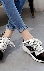 Women's Shoes Tulle Flat Heel Wedges/Comfort Fashion Sneakers/Athletic Shoes Outdoor/Office & Career/Casual Black/Gray
