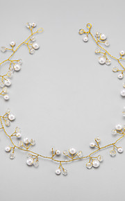 Women's/Flower Girl's Crystal/Alloy/Imitation Pearl Headpiece - Wedding/Special Occasion Headbands 1 Piece