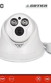 Waterdicht/Dag Nacht/Bewegingsdetectie/Dual Stream/Remote Access/IR-cut/Plug and play - Binnen - Cotier - Koepel - IP Camera