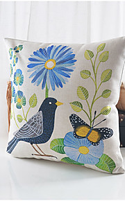 Country Life Cotton/Linen Decorative Pillow Cover