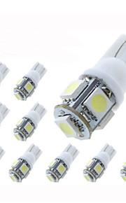 lorcoo ™ 10 stuks T10 1.5W 5x5050smd 100-120lm 6000K koel wit licht led lamp