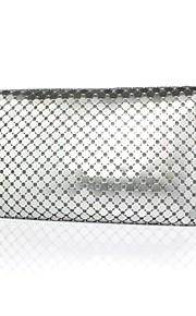 Handbag Satin/Silk/Metal Evening Handbags/Clutches/Wallets & Accessories With Crystal/ Rhinestone/Metal