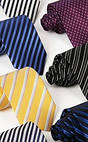 Men Business Casual Leisure Occupational Jacquard Striped Tie Gender Style Neckties Fashion Fabric