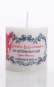 Personalized Customization Classic White Candle