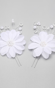 Women's/Flower Girl's Crystal/Alloy/Imitation Pearl Headpiece - Wedding/Special Occasion Hair Pin 2 Pieces