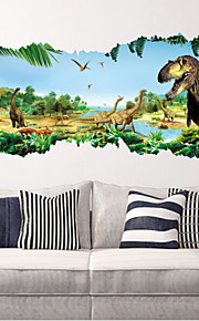 2015 novos zooyoo ® 1460 dinossauros adesivos de parede parque jurássico de decoração para casa