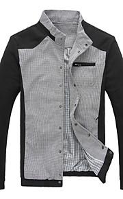 Jacke ( Schwarz/Blau/Grau , Polyester ) - für Freizeit - für MEN Lang