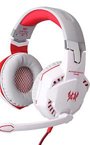 hver G2000 hovedtelefon kablet 3,5 mm i løbet øre gaming volumenkontrol med mikrofon til pc