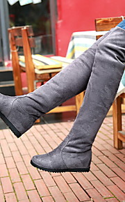 Women's Shoes Customized Materials Low Heel Fashion Boots Boots Dress/Casual Black/Brown/Red/Gray