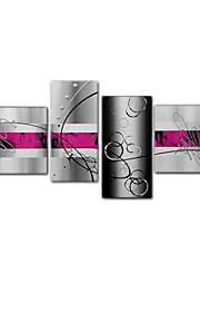 visueel star®modern handgeschilderde eenvoudige lijn canvas olieverf klaar te hangen