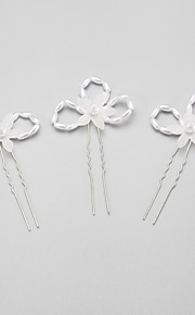 Women's/Flower Girl's Alloy/Imitation Pearl Headpiece - Wedding/Special Occasion Hair Pin 3 Pieces