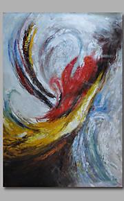 met de hand geschilderd olieverf op doek kunst aan de muur abstracte art deco één paneel klaar te hangen