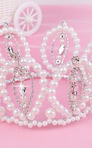 Copricapo Donne Tiare Matrimonio/Occasioni speciali Perle/Strass Matrimonio/Occasioni speciali 1 pezzo