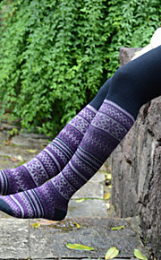 1Pairs Women's Retro Harajuku Style Knee Cotton Blends Stockings