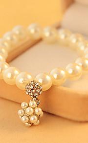 Strand Armband Dam Imitation Pärla Oäkta pärla