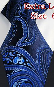 Men's Business Paisley Navy Blue Ties