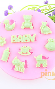 медведь троянов ребенок помады торт шоколадный силиконовые формы, формы для выпечки украшение инструменты