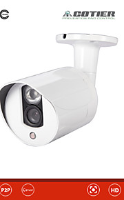 Waterdicht/Dag Nacht/Bewegingsdetectie/Dual Stream/Remote Access/IR-cut/Plug and play - Outdoor - Cotier - Kogel - IP Camera