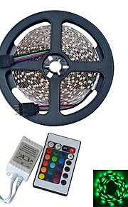 YouOkLight 5 M 300 3528 SMD Rouge Vert Bleu Etanche / Découpable / Télécommande / Pour Véhicules / Auto-Adhésives / Couleurs changeantes