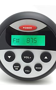 waterdichte marifoon stereo atv utv audio-ontvanger + 1 paar 4 inch waterdichte luidsprekers