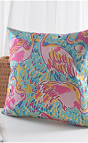 Crane Pattern Cotton/Linen Decorative Pillow Cover