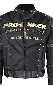 Rivestimento di corsa di protezione antiurto pro-biker moto giacca equitazione sport all'aria aperta (nero, M-XXXL)