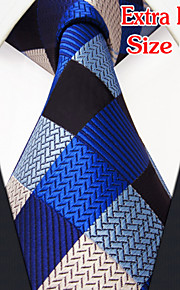 Men's Casual Checked Blue Ties