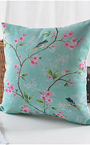 Country Plum Pattern Cotton/Linen Decorative Pillow Cover