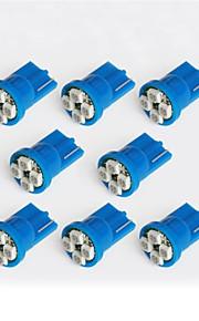 lorcoo ™ 10st geleid autolichten lamp t10 3528 4-smd 194 168 (wit, blauw)