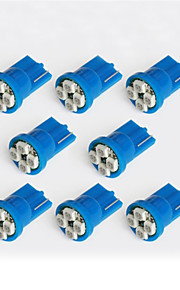 10pcs lorcoo ™ luci led auto bulbo t10 3528 4-SMD 194 168 (bianco, blu)