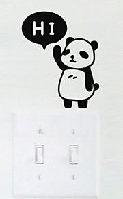 애니멀 벽 스티커 플레인 월스티커 , PVC 15*10*1