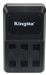 Kingma 3 poorten sport camera USB-oplader voor GoPro held 4 lont zwart ahdbt-401 accu