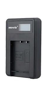 camera acculader met het scherm voor Sony NP-BX1 zwart
