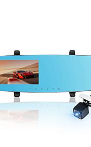 LDWS&FCWS DVR, Beautiful voice remind, Front 1080P Rear 720P Daul Lens, Rear External Waterproof Lens, 4.3' Screen Size;