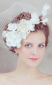 satijn/Net Vrouwen Helm Bruiloft/Speciale gelegenheden Net Sluier Bruiloft/Speciale gelegenheden 1 Stuk
