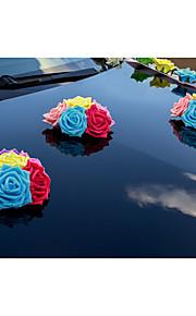 Candy Color Multicolor Flower Decoration Car Head (15cm*15cm)