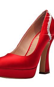 Chaussures de mariage - Rouge / Blanc / Champagne - Mariage / Habillé / Soirée & Evénement - Talons / A Plateau / Bout Fermé - Talons -