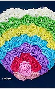 Candy Color Multicolor Flower Heart Shape Decoration Car Head (40*40cm)