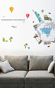 Wall Stickers Wall Decals Style Holiday Time PVC Wall Stickers