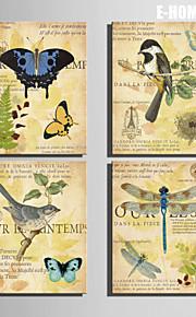 전자 home® 4의 캔버스 아트 잠자리 나비와 새 장식 그림 세트를 뻗어