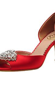 Chaussures de mariage - Rouge / Champagne - Mariage / Habillé / Soirée & Evénement - Bout Ouvert / D'Orsay & Deux Pièces - Sandales -