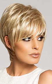 высокое качество монолитным девственница Remy короткие прямые моно топ парики человеческих волос