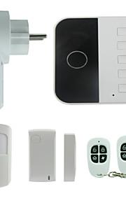 système d'alarme de contrôle de téléphone à double réseau de l'utilisation du système d'alarme de sécurité à domicile wifi gsm wifi à puce