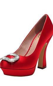 Chaussures de mariage - Noir / Rouge / Blanc / Champagne - Mariage / Habillé / Soirée & Evénement - Talons / A Plateau / Bout Fermé -