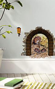 애니멀 / 카툰 / 3D 벽 스티커 3D 월 스티커 , PVC 10*13 cm(3.9*5.1 inch)