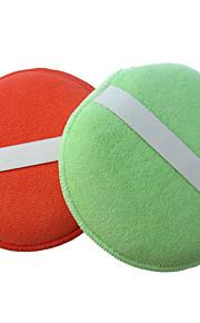 sinland microfiber spons polijsten applicator pads auto detaillering polish waxen spons (2 pack)