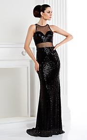Kleid Meerjungfrau-Linie / Mermaid-Stil - Juwel-Ausschnitt - Sweep / Pinsel Zug